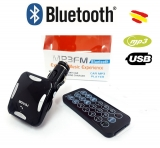 Modulator FM Auto Bluetooth Bovju MP3, cu MicroUSB, Aux, USB