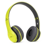 Casti wireless MRG P47 Verde cu bluetooth microfon