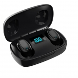 Casti bluetooth MRG L-TWS-T10S, cu Display, In-ear, Negru