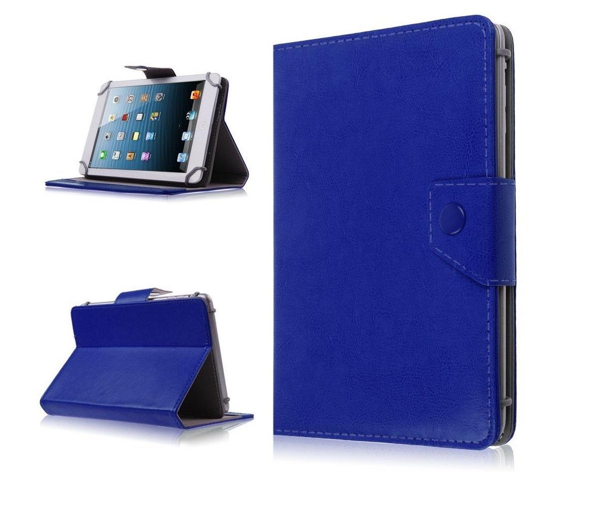Husa Tableta 7 Inch Model X , Albastru , Tip Mapa , Prindere 4 Cleme