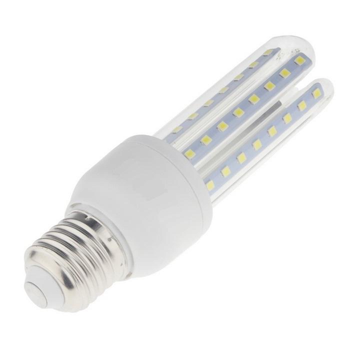 Bec LED SMD 9W Corn Sticla Economic Dulie E27 6500K ( Lumina Rece)