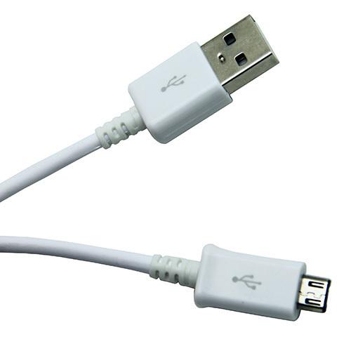 Cablu Date si Incarcator Micro Usb  Culoare Alb