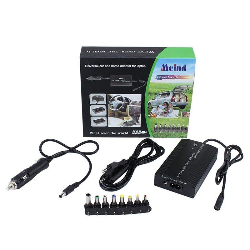 Incarcator universal laptop, priza si auto, 100W, 8 conectori