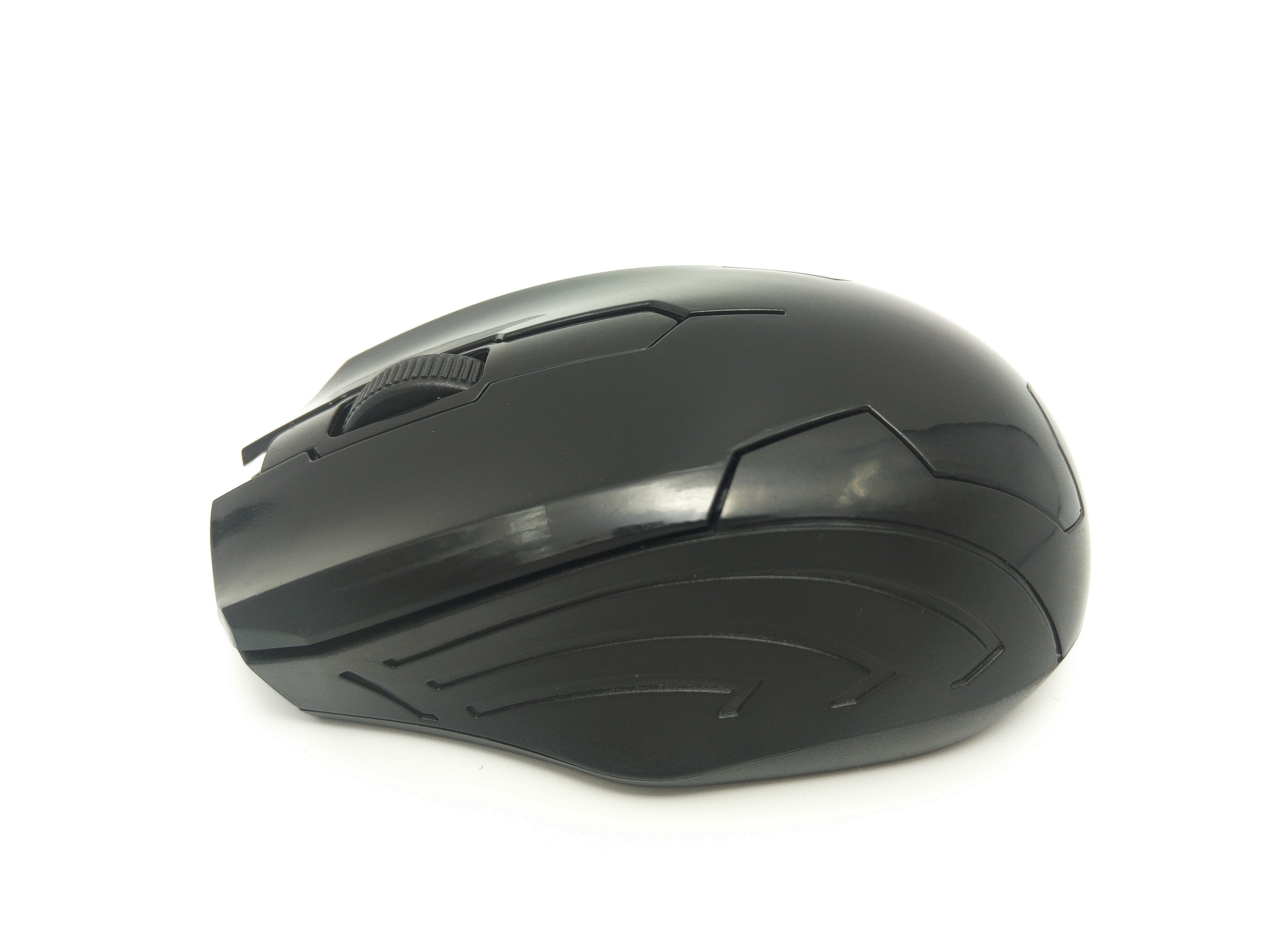 Mouse wireless Jiexin A701 cu LED, 3200 DPI, USB, Negru