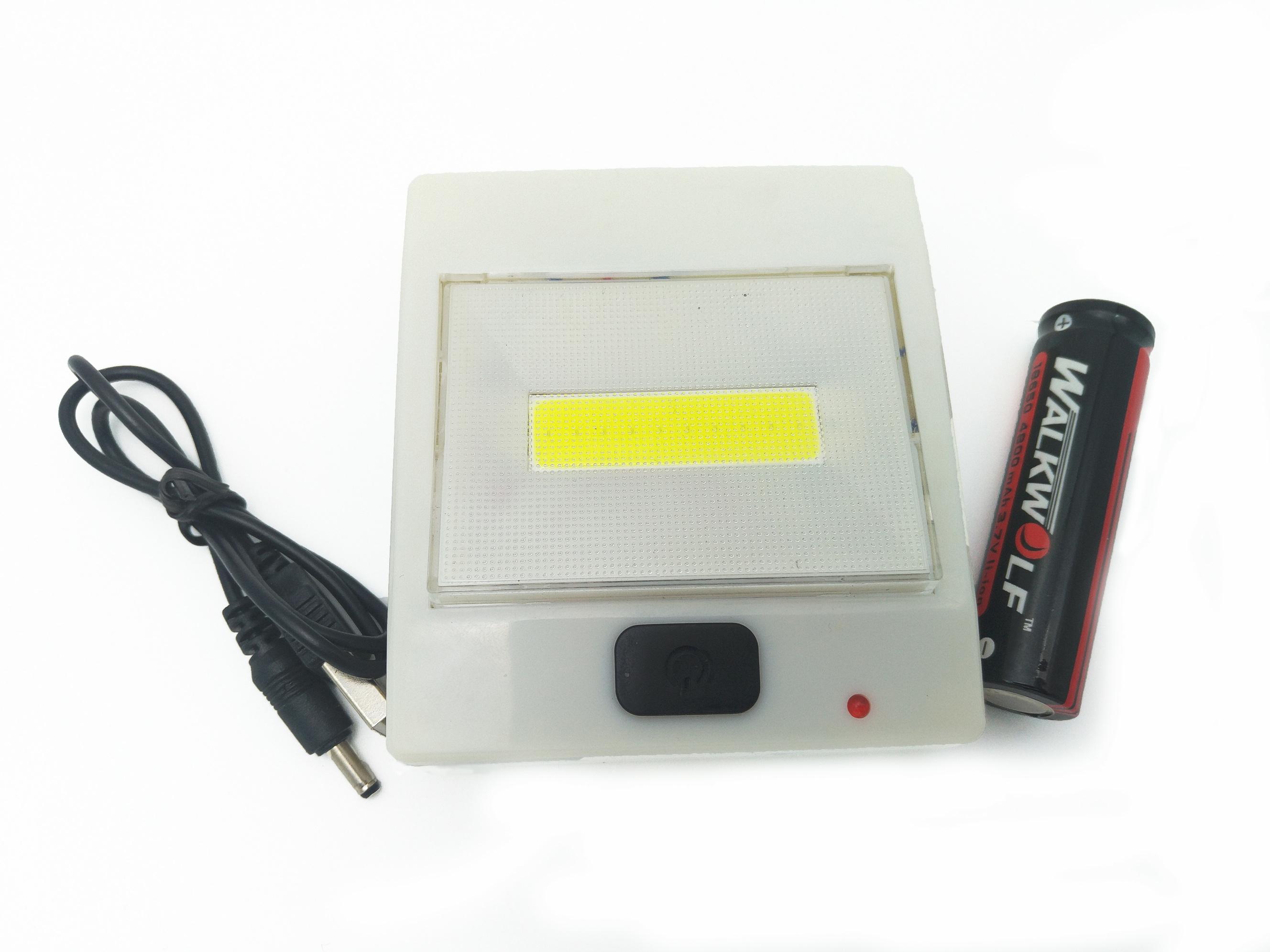 Lanterna Lampa de Veghe COB cu LED 5W, lumina Alba Rece cu acumulator 3.7V, Alb