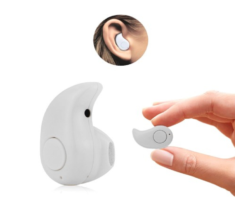 Mini casca Bluetooth MRG invizibila Handsfree Alb  A2DP C279