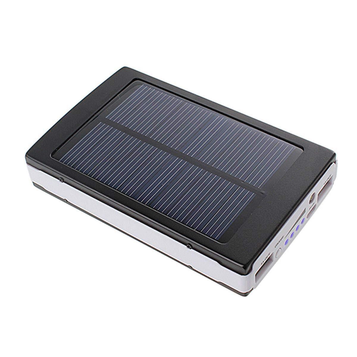 Baterie externa 20000 mah Negra  incarcare solara si lanterna 20 Led