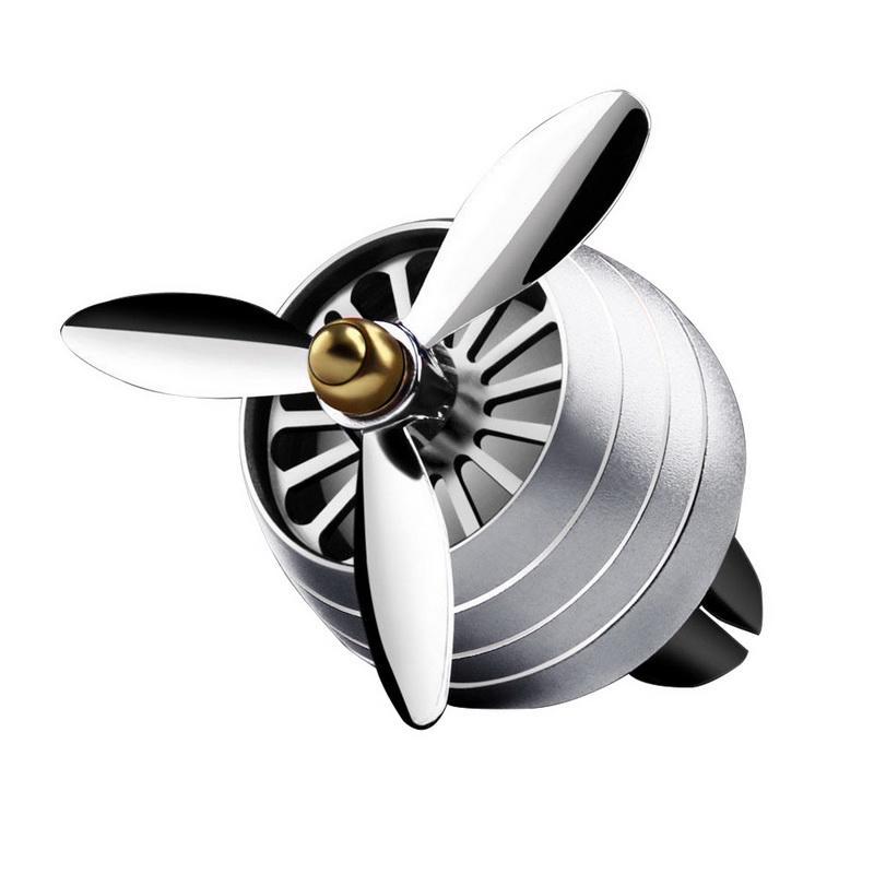 Odorizant Auto Tip Ventilator pentru Grila cu Lumini Gri