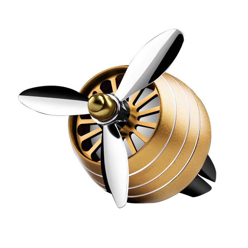 Odorizant Auto Tip Ventilator pentru Grila cu Lumini Gold