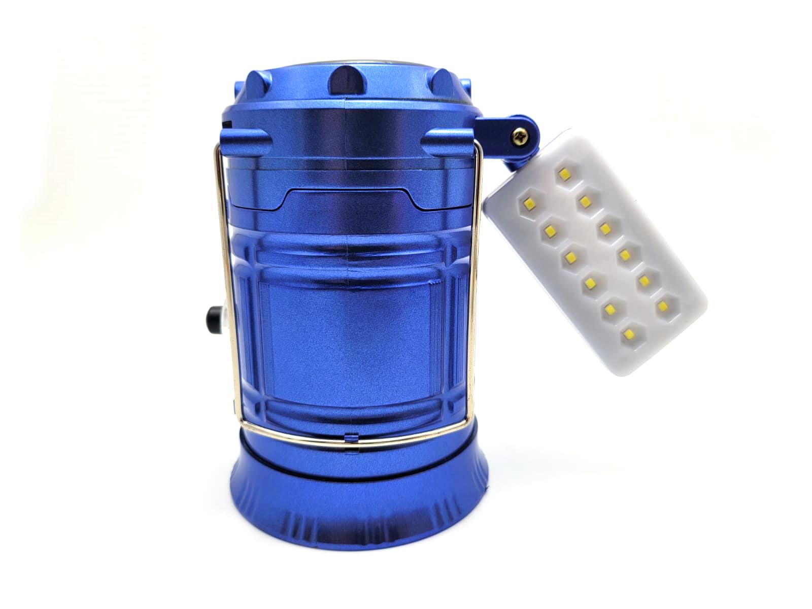 Felinar Reincarcabil MRG P-5888, Panou solar, Panou 12 LED, Albastru