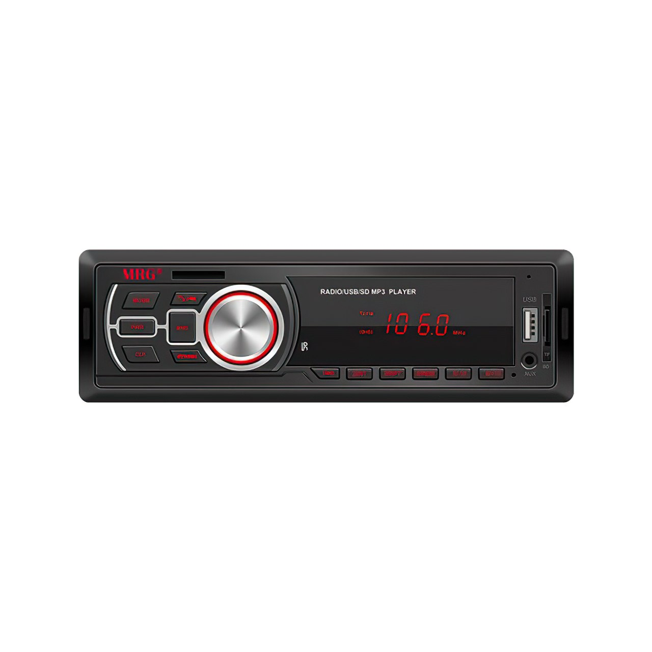 Casetofon Auto MRG A-626, Bluetooth, Cu telecomanda, Hands-free, Display rosu