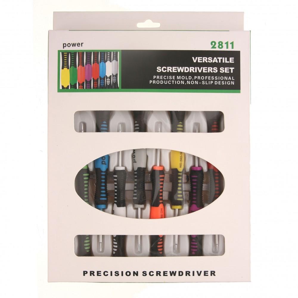 Set surubelnite si unelte MRG C-2811A, 16 componente, multicolor