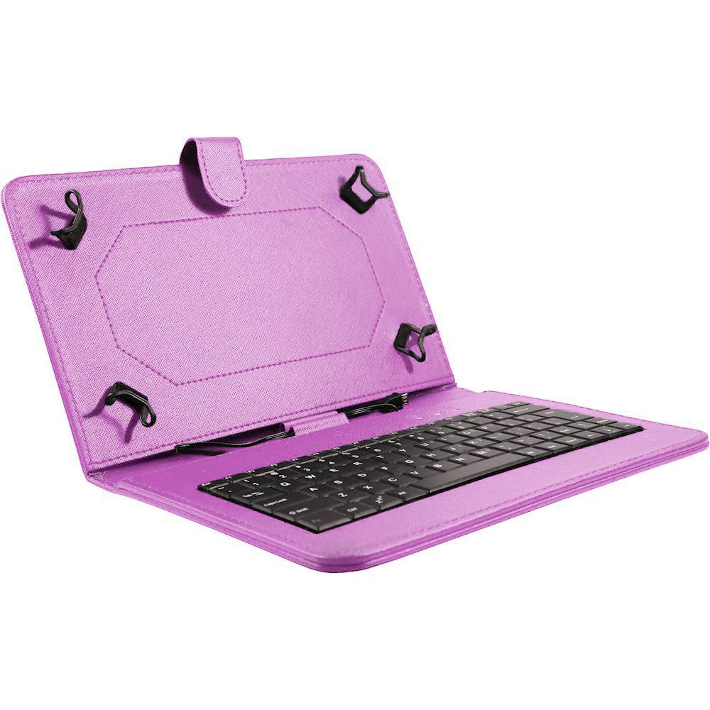 Husa tableta model X cu tastatura MRG L-402, MicroUSB, 10 inch, Mov