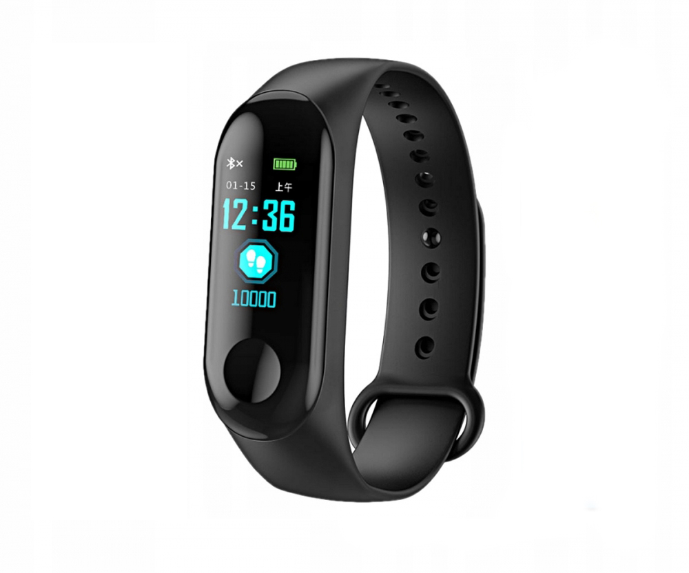 Bratara fitness MRG M-M3, Bluetooth, Smart, Negru
