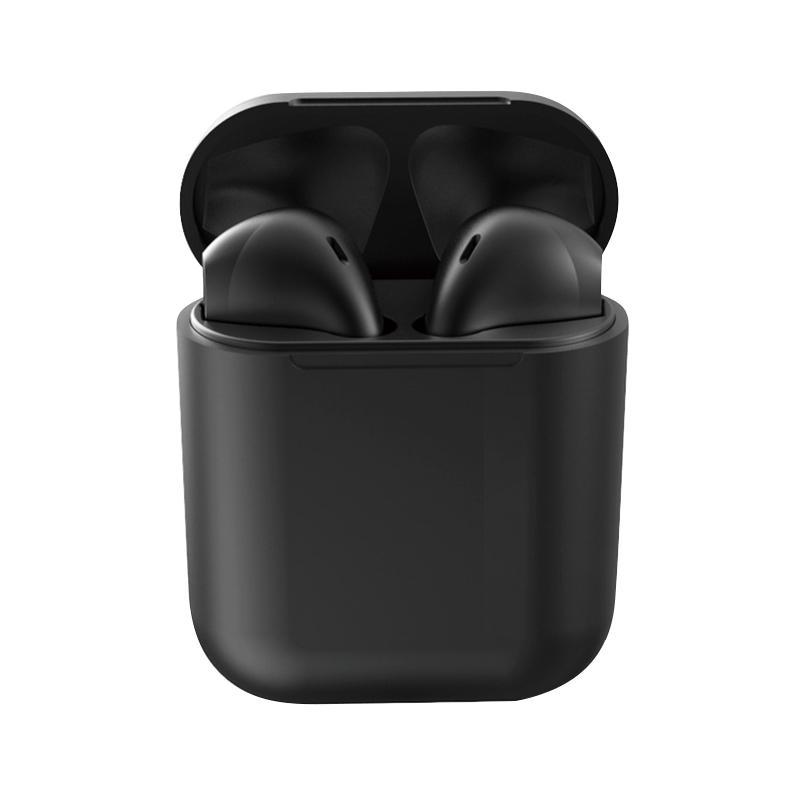 Casti Bluetooth MRG L-inPods 12, Cu carcasa, Handsfree, Negru