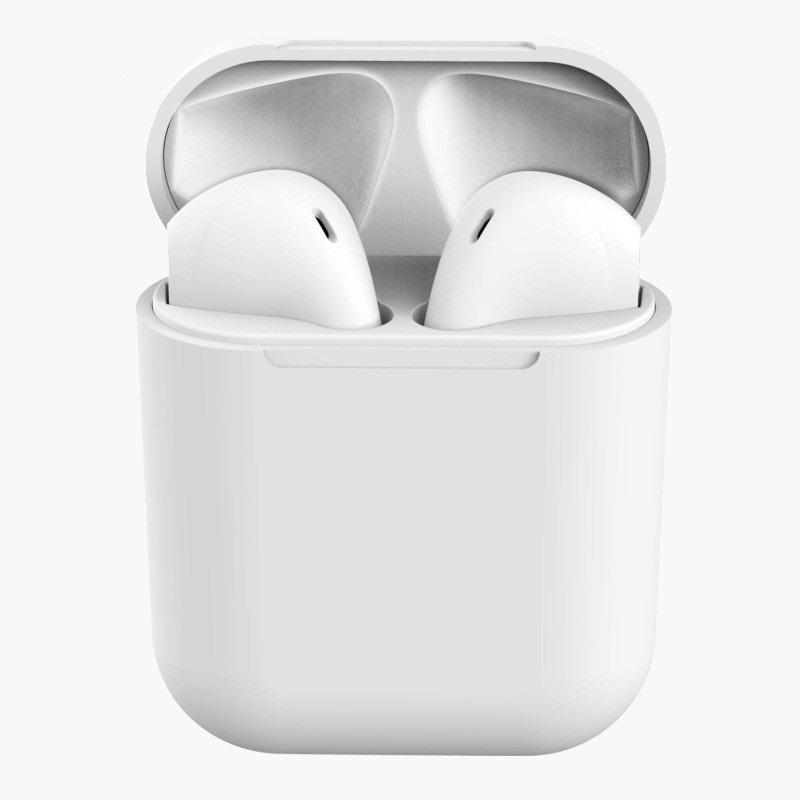 Casti Bluetooth MRG L-inPods 12, Cu carcasa, Handsfree, Alb