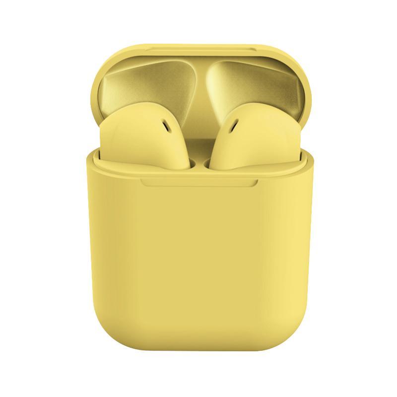 Casti Bluetooth MRG L-inPods 12, Cu carcasa, Handsfree, Galben