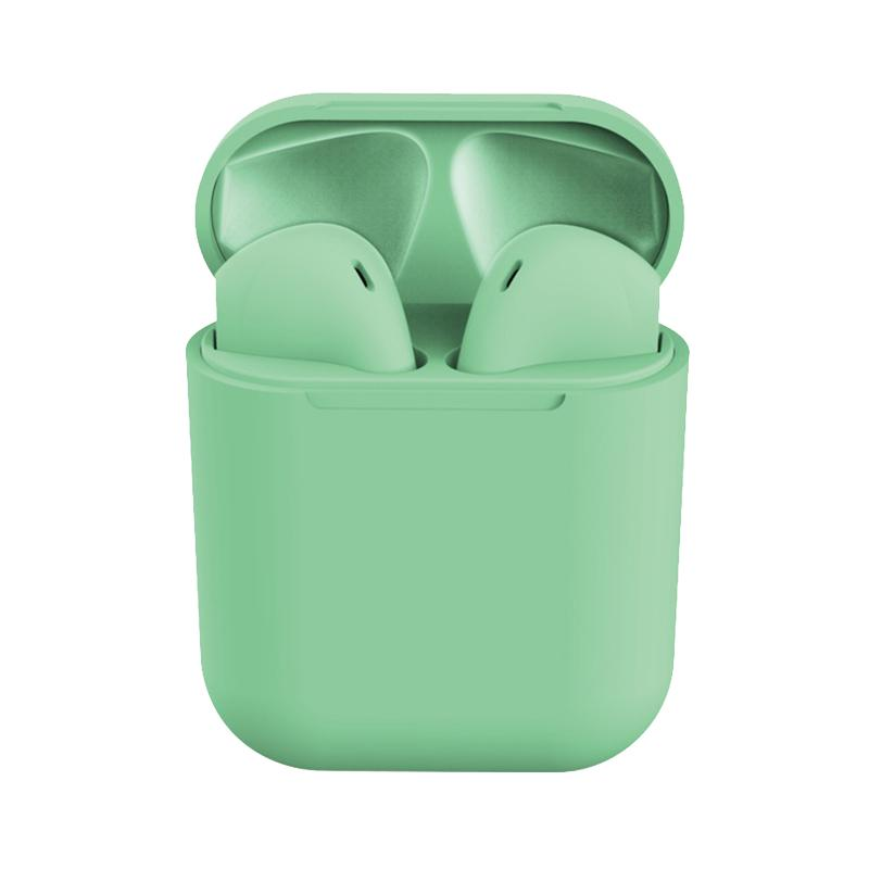 Casti Bluetooth MRG L-inPods 12, Cu carcasa, Handsfree, Verde