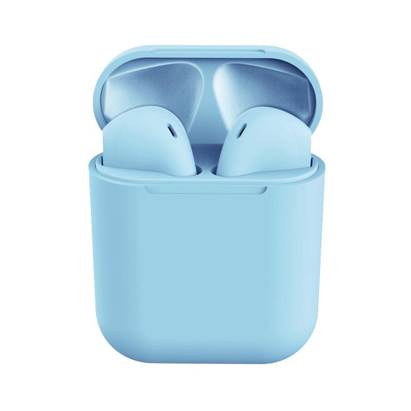 Casti Bluetooth MRG L-inPods 12, Cu carcasa, Handsfree, Albastru