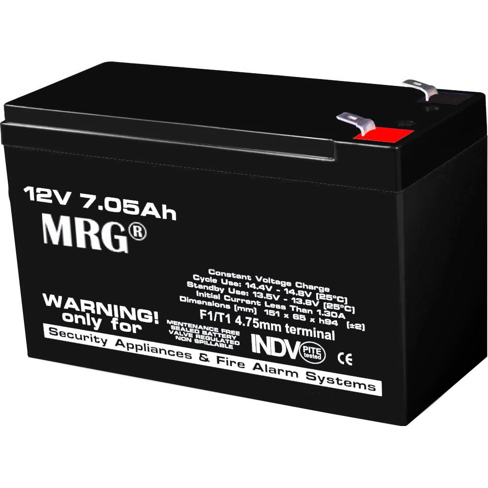 Acumulator plumb acid MRG M-485, 12V-7Ah, Reincarcabil, Negru