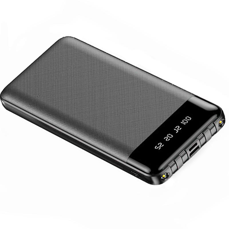 Baterie Externa Power Bank MRG M-486, 12.000 mAh, 3 in 1, Display LCD, Negru C486
