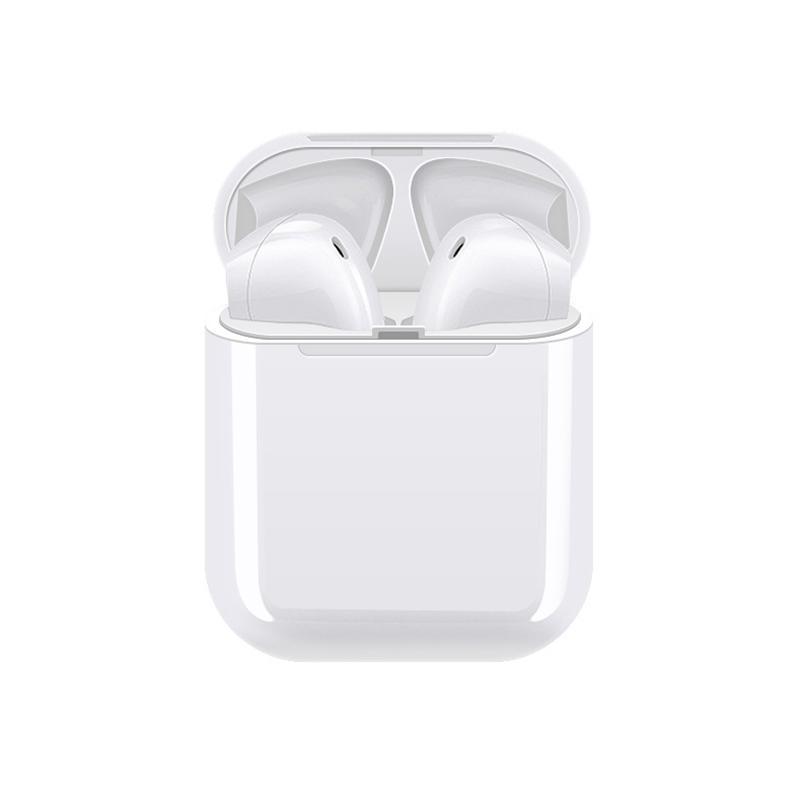 Casti Bluetooth MRG L-i9S, Cu husa si carcasa, Handsfree, Alb