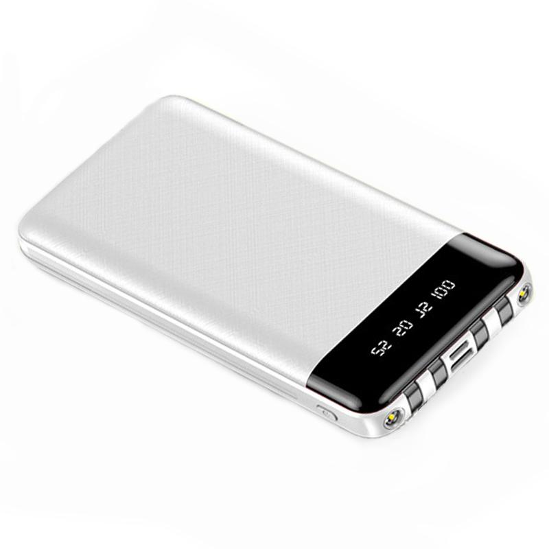 Baterie Externa Power Bank MRG M-486, 12.000 mAh, 3 in 1, Display LCD, Alb