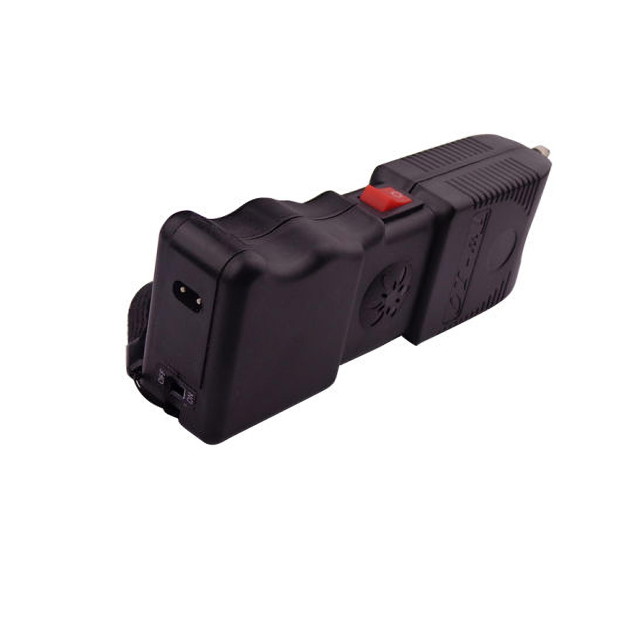 Electrosoc cu alarma MRG P-TW-10, Cu lanterna, Autoaparare, Negru