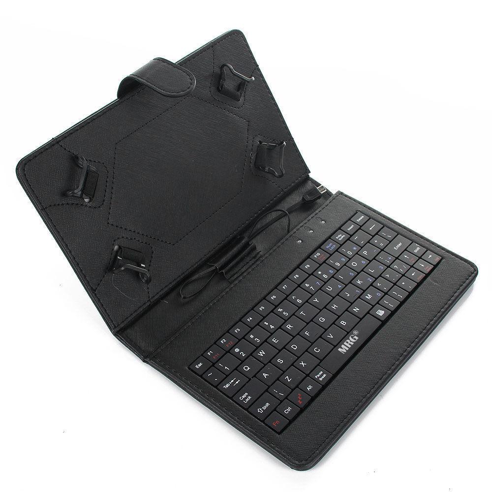 Husa Tableta 7 inch MRG C-359, Cu tastatura, Micro USB, Negru