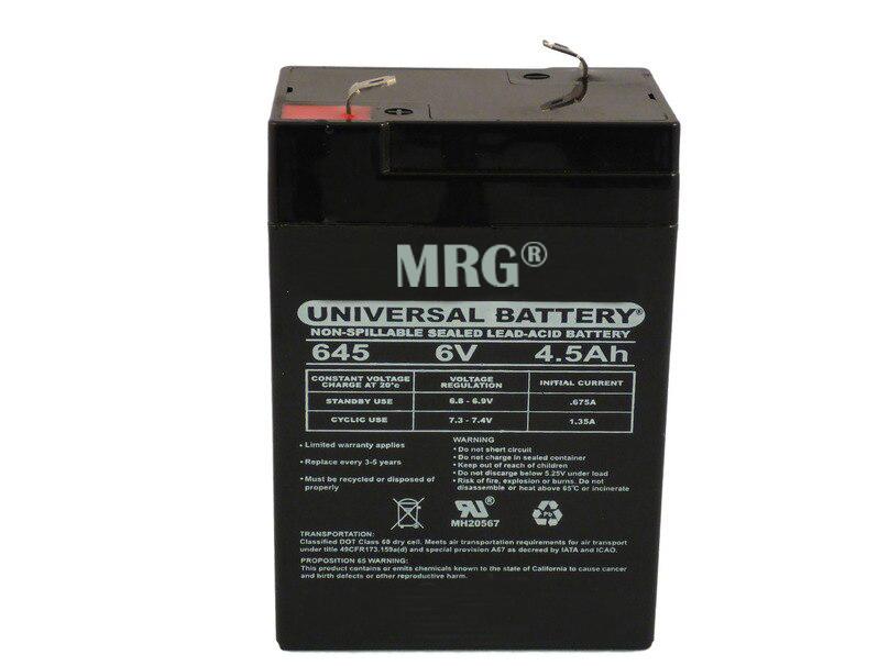 Acumulator plumb acid MRG M-425, 6V-4.5Ah, Reincarcabil, Verde