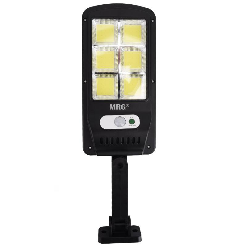 Lampa solara stradala MRG M-6035, 120 LED, Incarcare solara, Negru
