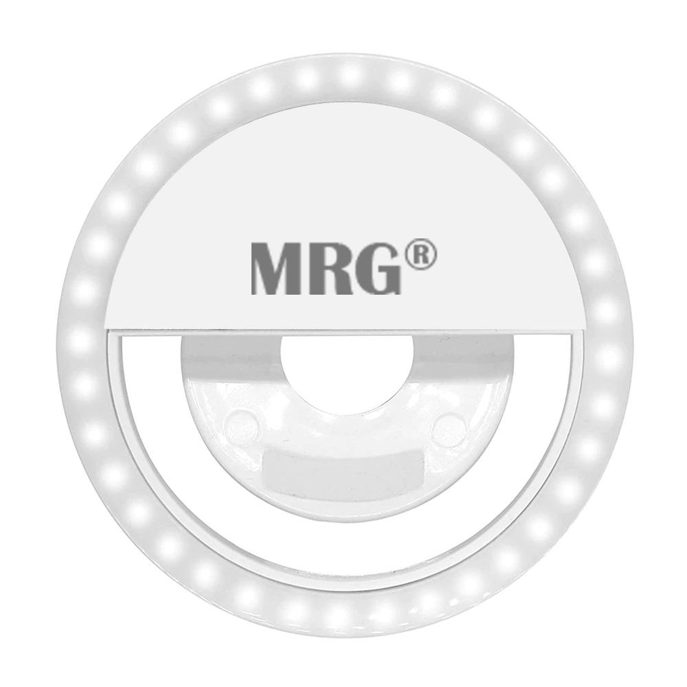 Lanterna Inel Selfie MRG M-429, Reincarcabil, Pentru telefon, Alb