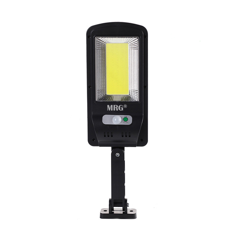 Lampa solara stradala MRG M-6037, Panou solar, 100 LED Cob, Negru