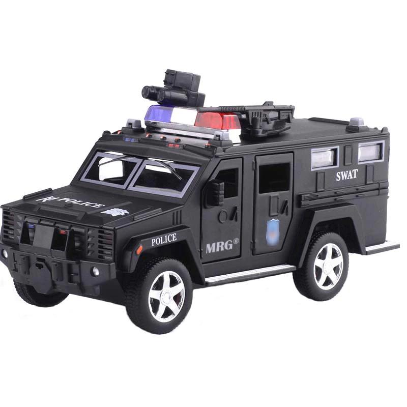 Pusculita Electronica MRG M-6688-19, Masina de politie, Cu PIN, Negru
