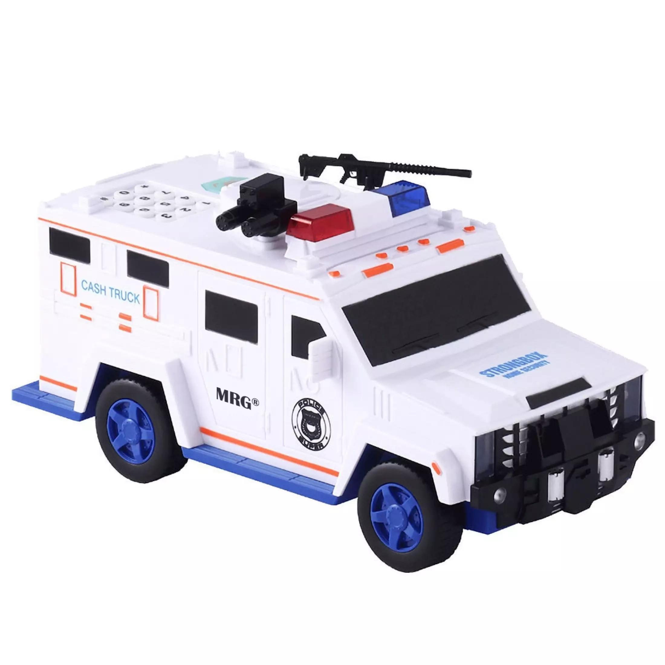 Pusculita Electronica MRG M-6688-19, Masina de politie, Cu PIN, Alb