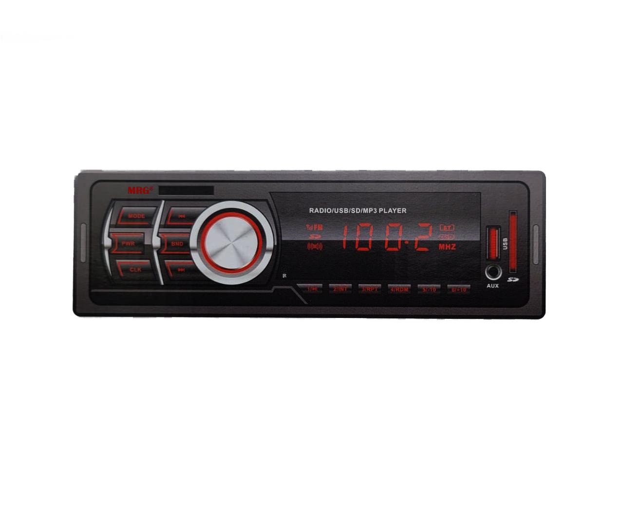 Casetofon Auto MRG MA603, Bluetooth, Cu telecomanda, Hands-free, Display rosu