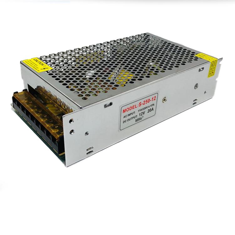 Sursa alimentare MRG MS250, 12V – 20A, 250W, Carcasa metalica