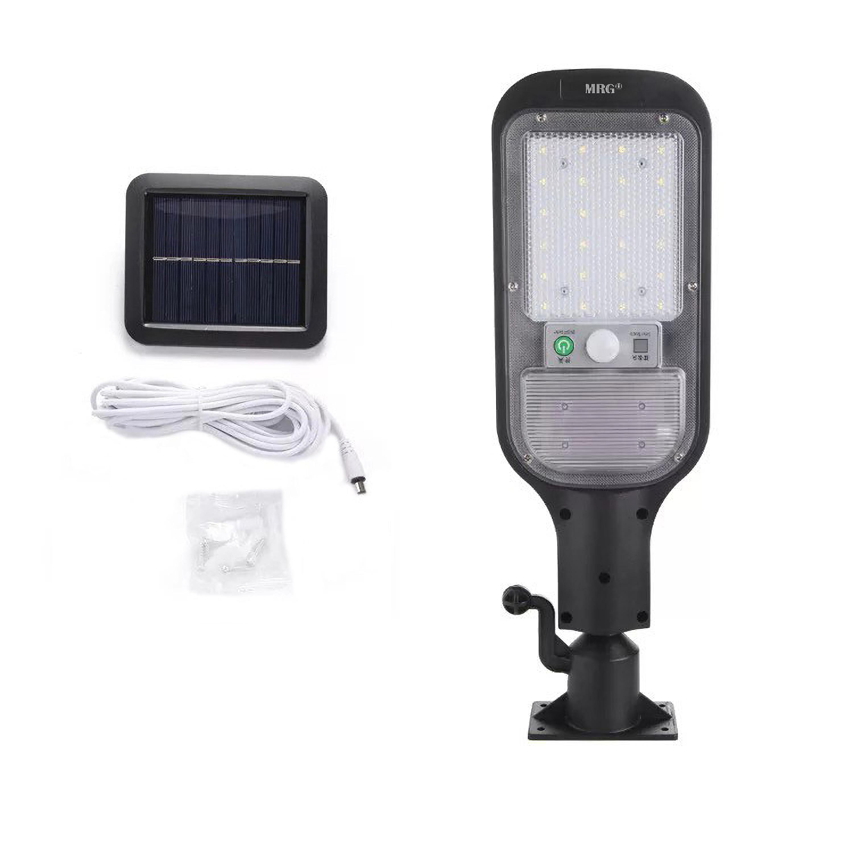 Lampa solara stradala MRG MJX-516, Panou solar, Pentru exterior, Negru
