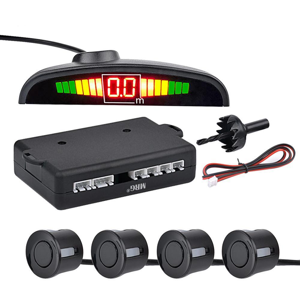 Senzori de parcare MRG MTMPS, Universali, Cu display LED, Negru