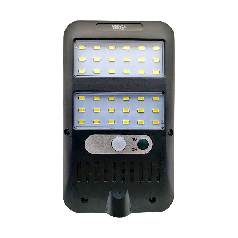 Lampa solara MRG MJX228, 36 LED Cob, Panou solar, Senzor de miscare, Negru