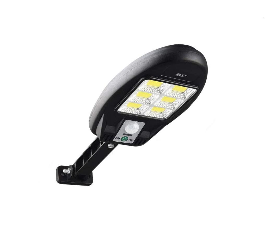 Lampa solara MRG MCL180, 48 LED Cob, Panou solar, Senzor de miscare, Negru