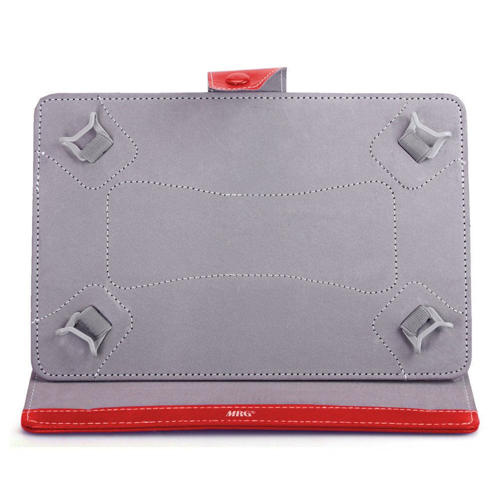 Husa tableta MRG M568, 10 inch, Tip mapa, Prindere 4 cleme, Rosu