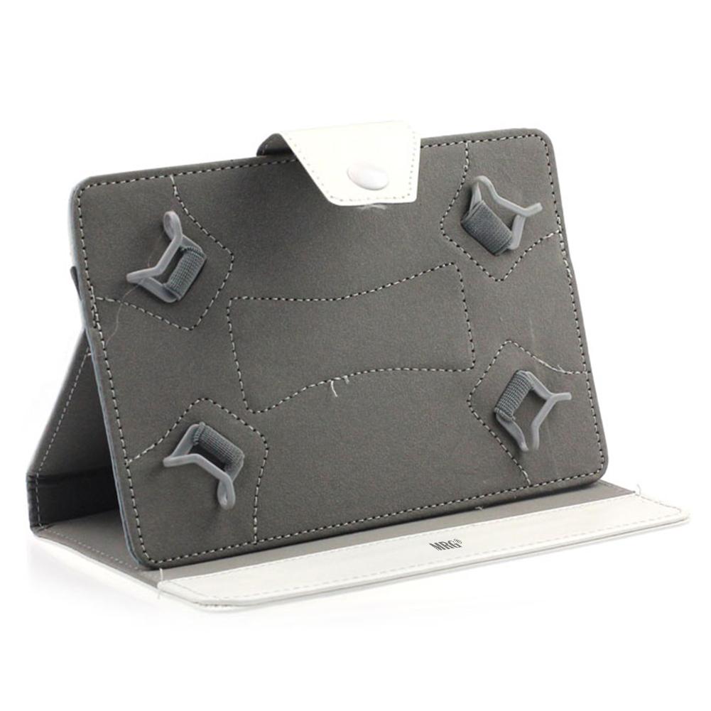 Husa tableta MRG M568, 10 inch, Tip mapa, Prindere 4 cleme, Alb