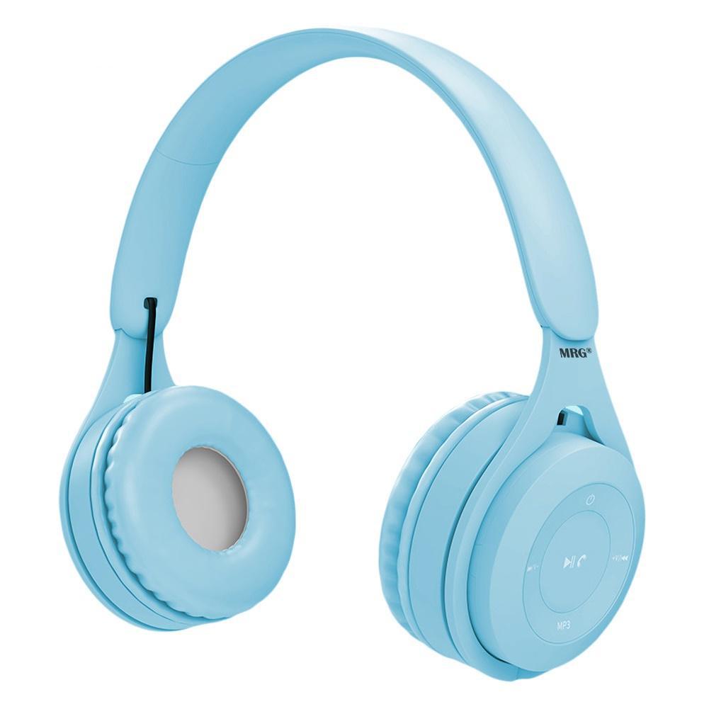 Casti wireless MRG MYO8, Handsfree, Cu bluetooth, Albastru