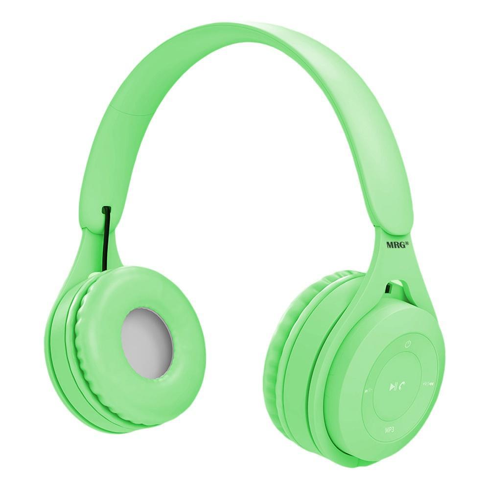 Casti wireless MRG MYO8, Handsfree, Cu bluetooth, Verde