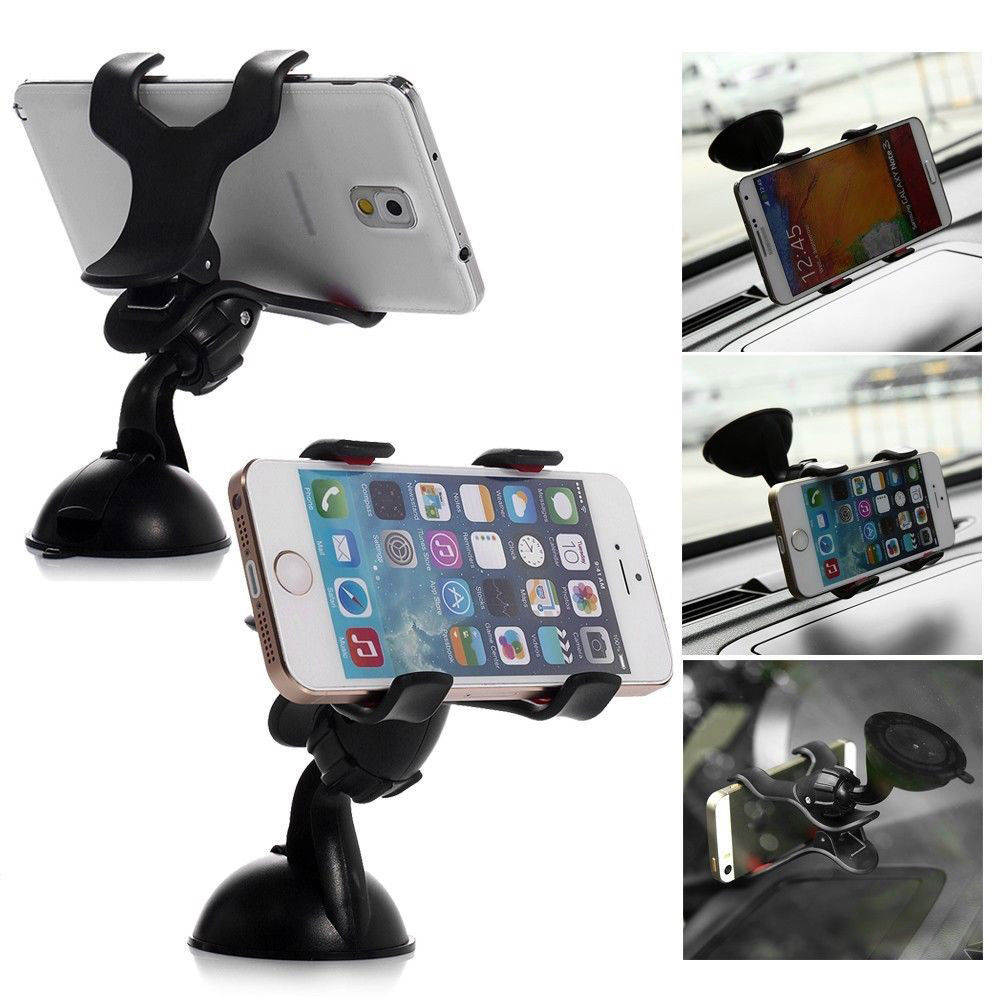 Suport Auto Parbriz / Geam Telefon Universal Reglabil W 360 Grade