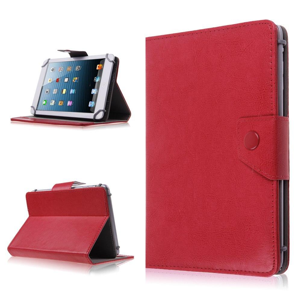 Husa Tableta 7 Inch Model X , Rosu , Tip Mapa , Prindere 4 Cleme