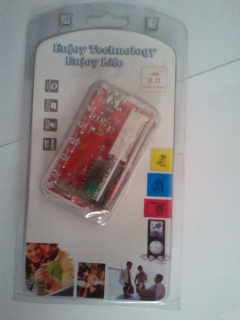 Card reader all in one cu cablu XD, SD/MMC, MS/MSPRO, CF/MD.
