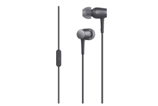Casti Handsfree Metalice Extra Bass In-Ear Gri Audio Stereo cu Microfon