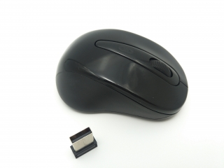 Mouse wireless Jiexin A300 cu LED, 3200 DPI, USB, Negru